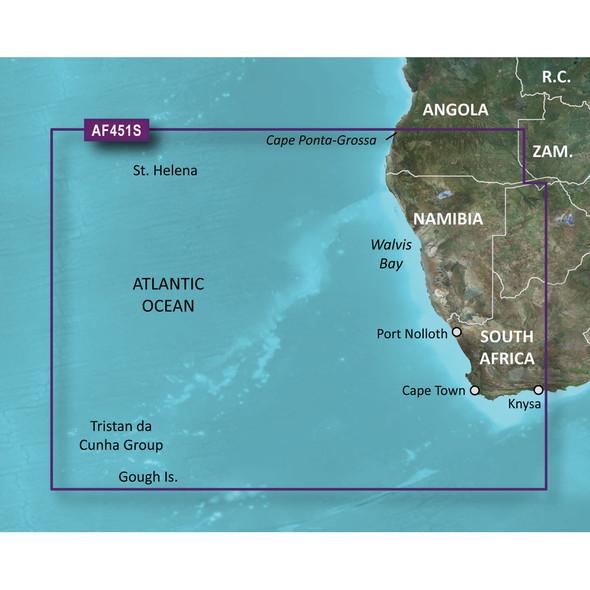 Garmin Bluechart g2 Vision HD - VAF451S - Namibia - Knysna, SA - microSD/SD [010-C0751-00]