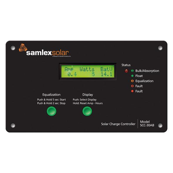 Samlex Flush Mount Solar Charge Controller w/LCD Display - 30A [SCC-30AB]