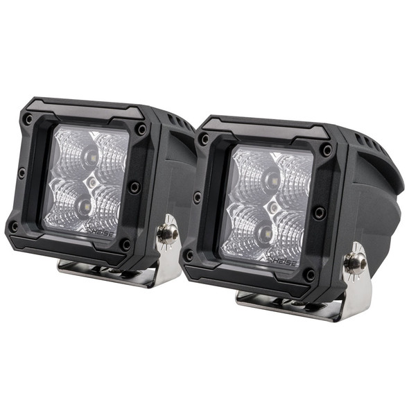 "HEISE 4 LED Cube Light - Flood - 3"" - 2 Pack [HE-HCL22PK]"