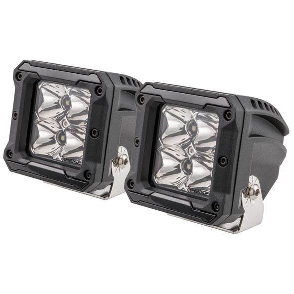 "HEISE 4 LED Cube Light w/Harness - Spot Beam- 3"" - 2 Pack [HE-HCL2S2PK]"