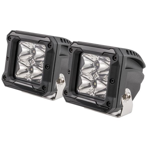 "HEISE 4 LED Cube Light w/Harness - Spot Beam- 3"" - 2 Pack [HE-HCL2S2PK]"
