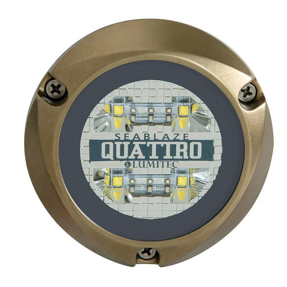 Lumitec SeaBlaze Quattro LED Underwater Light - Dual Color - White/Blue [101511]