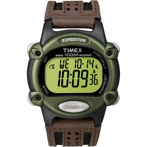 Timex Expedition Mens Chrono Alarm Timer - Green/Black/Brown [T48042]