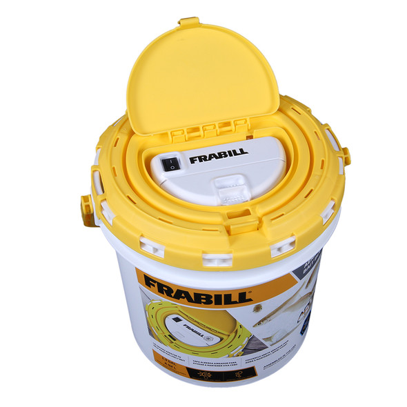 Frabill Dual Fish Bait Bucket with Aerator Built-In [4825]