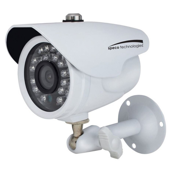 Speco HD-TV1 2MP Color Waterproof Marine Bullet Camera w/IR, 10 Cable, 3.6mm Lens, White Housing [CVC627MT]