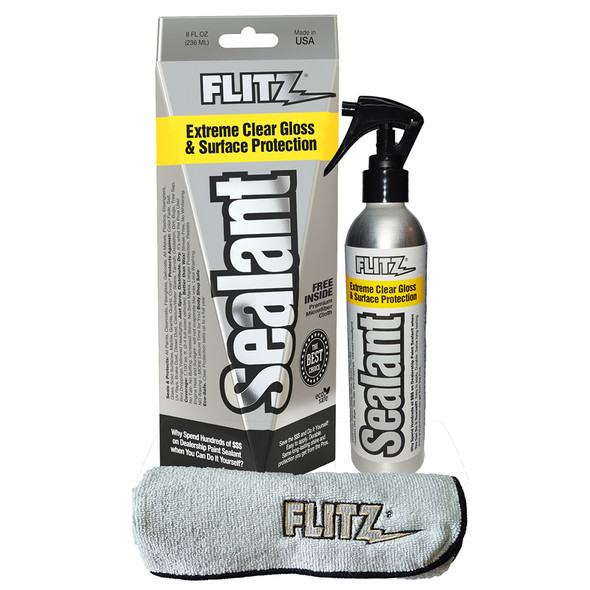 Flitz Sealant Spray Bottle with Microfiber Polishing Cloth - 236ml\/8oz *Case of 6* [CS 02908CASE]