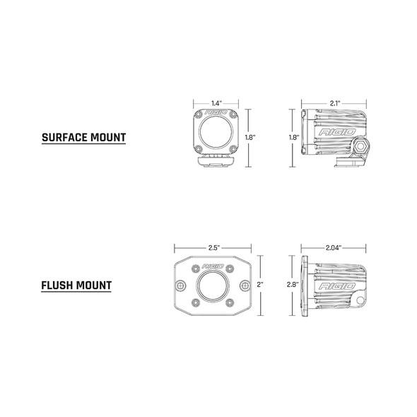 RIGID Industries Ignite Surface Mount Diffused - Pair - Black [20541]