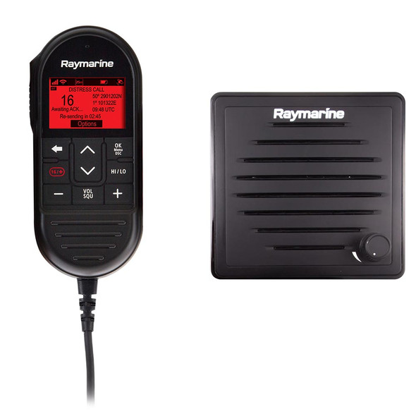 Raymarine Ray90 Wired Second Station Kit w\/Passive Speaker, RayMic Wired Handset  RayMic Extension Cable - 10M [T70432]