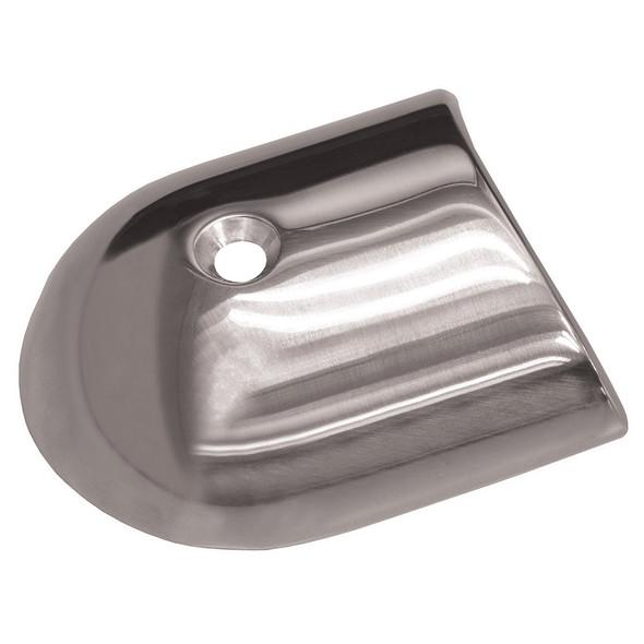 TACO Polished Stainless Steel 2-19\/64 Rub Rail End Cap [F16-0091]