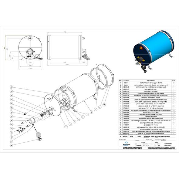 Albin Pump Marine Premium Water Heater 12G - 120V [08-01-026]