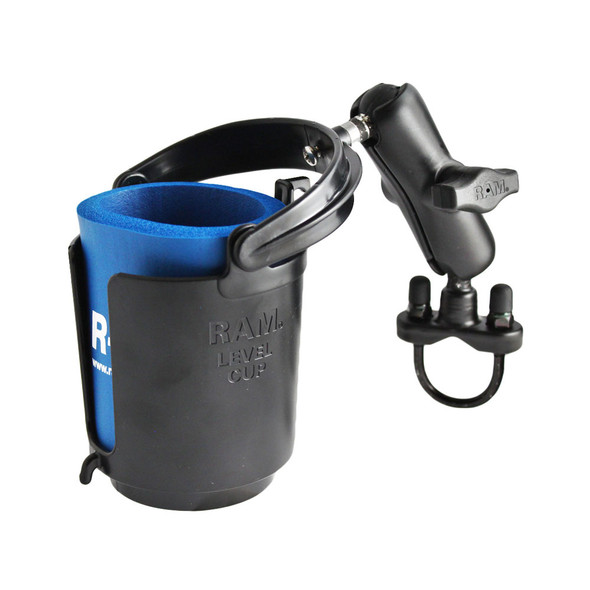 RAM Mount Drink Cup Holder w\/U-Bolt Base [RAM-B-132RU]
