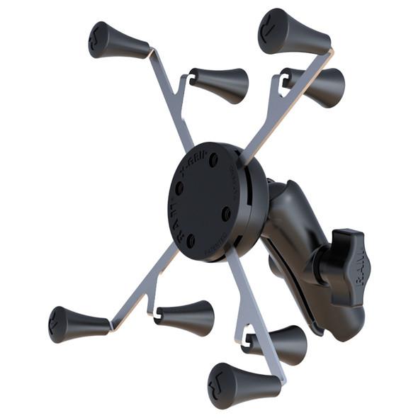 "RAM Mount Universal X-Grip Cradle with 1"" Ball & STANDARD Length Double Socket Arm f\/7"" Tablets [RAM-HOL-UN8B-201U]"