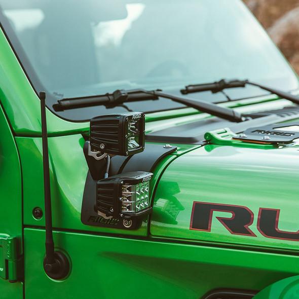 RIGID Industries 2018 Jeep Wrangler JL Cowl Mount for 2 D-Series [41656]