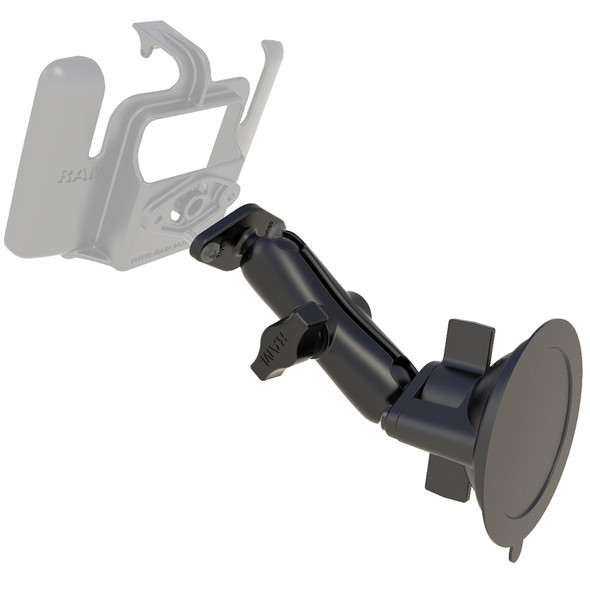 RAM Mount Base Suction Mount Twist Lock - Requires RAM Cradle [RAM-B-166U]