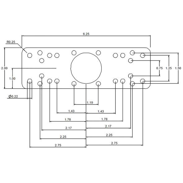 RAM Mount Horizontal Single Arm Ball Mount - Gimbal Bracket [RAM-109HSB]