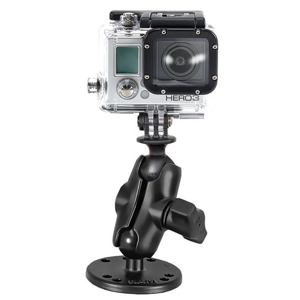 RAM Mount GoPro Hero Short Arm Flat Surface Mount [RAM-B-138-A-GOP1U]