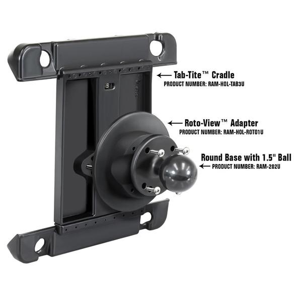 RAM Mount Roto-View Adapter Plate [RAM-HOL-ROTO1U]