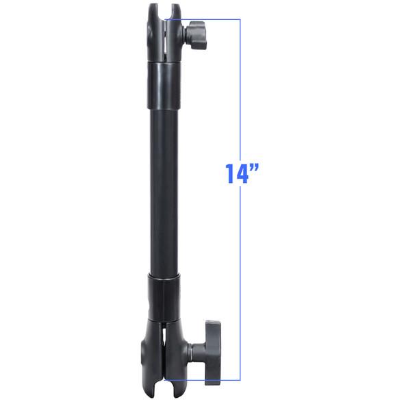 """RAM Mount 14"""" Long Extension Pole w\/1"""" and 1.5"""" Single Open Socket [RAP-CB-201-14U]"""