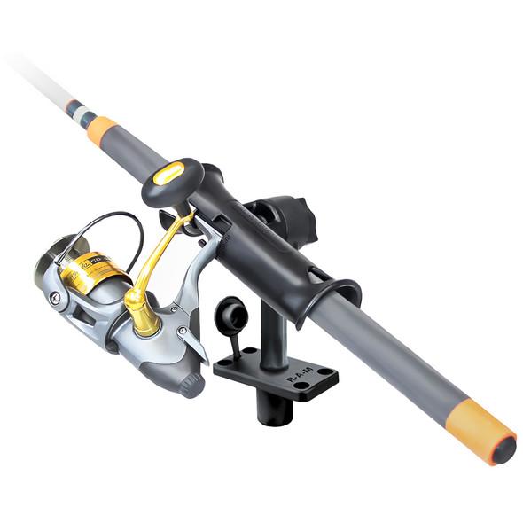 """RAM Mount RAM Tube Jr. Fishing Rod Holder w\/Standard 6"""" Length Post Spline & Flush Mounting Base [RAP-390-FU]"""