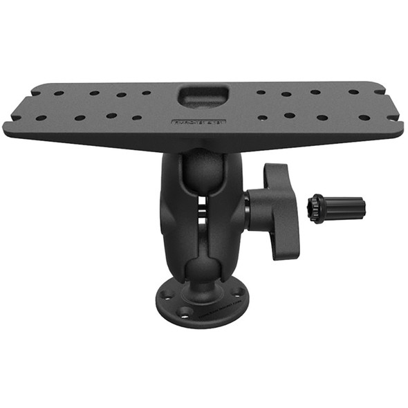 RAM Mount Heavy Duty Marine Electronics Mount w\/Pin-Lock Security Kit Short Arm [RAM-S-D-111U-C]