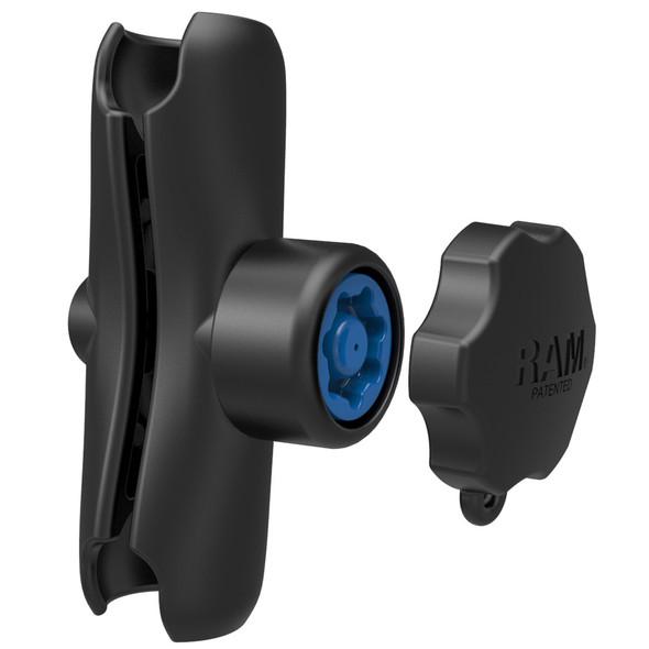 "RAM Mount Double Socket Arm w\/Pin-Lock Security Knob - 1.5"" [RAM-201-SU]"