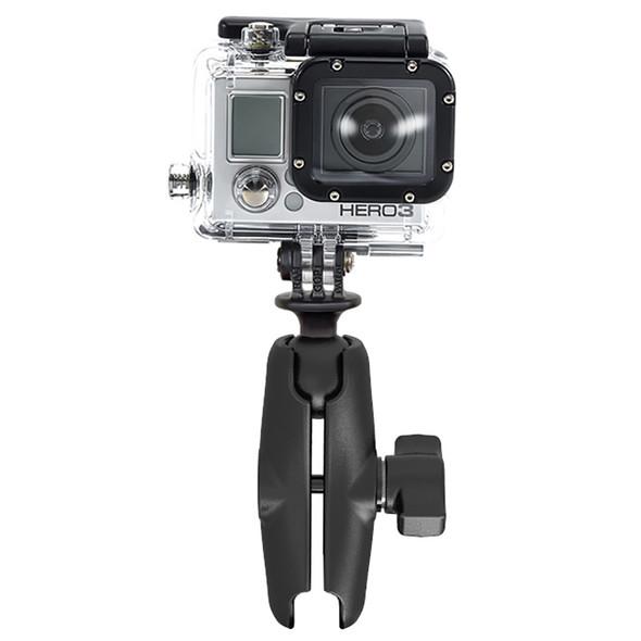 RAM Mount GoPro Hero Adapter with Double Socket Arm [RAM-B-202-GOP1-201U]