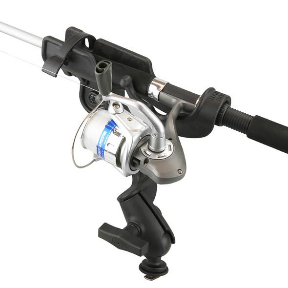 RAM Mount RAM-ROD 2000 Fishing Rod Holder with RAM-ROD Revolution Ratchet\/Socket System and Track BallBase [RAM-114-RB-TRA1U]