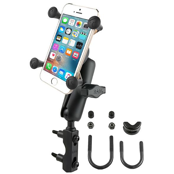 RAM Mount Combination Brake\/Clutch Reservoir U-Bolt Mount w\/Universal X-Grip Cell\/iPhone Cradle [RAM-B-174-UN7U]