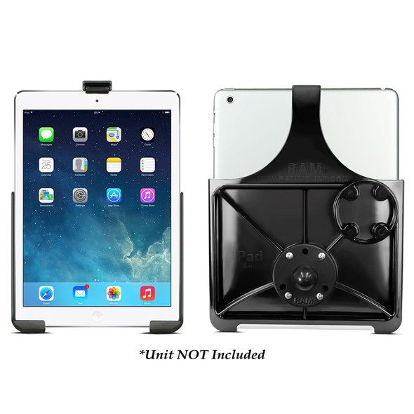 RAM Mount EZ-Rollr Model Specific Cradle w\/Round Base Adapter for the iPad 5th Generation, Apple iPad Air 1-2  iPad Pro 9.7 [RAM-B-202-AP17U]