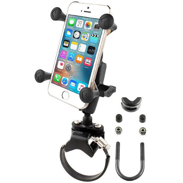 RAM Mount Strap Clamp, Roll Bar Mount w\/Universal X-Grip Cell\/iPhone Cradle [RAM-B-231-2-UN7U]