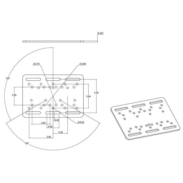 """RAM Mount Forklift Overhead Guard Plate w\/D Size 2.25"""" Ball [RAM-335-D-246]"""