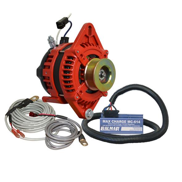 """Balmar Alternator 1-2"""" Single Foot K6 Serpentine Pulley Regulator  Temp Sensor - 170A Kit - 12V [XT-SF-170-K6-KIT]"""