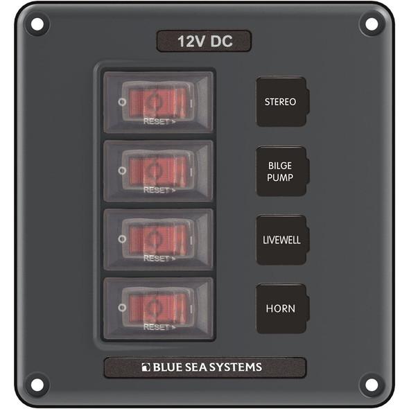 Blue Sea 4320 Circuit Breaker Switch Panel 4 Position - Gray [4320]