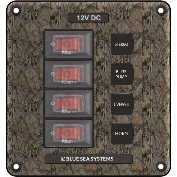 Blue Sea 4323 Circuit Breaker Switch Panel 4 Position - Camo [4323]