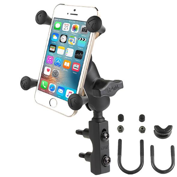 RAM X Grip Phone Mount w/Motorcycle Brake/Clutch Reservoir Base [RAM-B-174-A-UN7U]