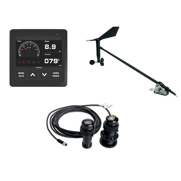 VDO Navigation Kit f/Sail, Wind Sensor, Transducer, Display  Cables [A2C1352150002]