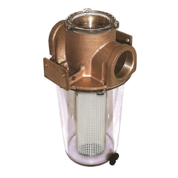 "GROCO ARG-1000 Series 1"" Raw Water Strainer w\/Non-Metallic Plastic Basket [ARG-1000-P]"