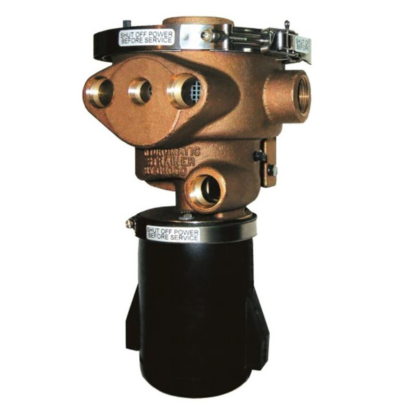 """GROCO 1-1\/2"""" Inlet Hydromatic Self-Cleaning Strainer - 12V [970-1500-12]"""