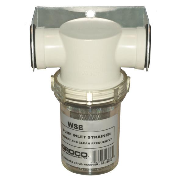 "GROCO 1/2"" Fresh Water Strainer w/Plastic Basket [WSB-500-P]"