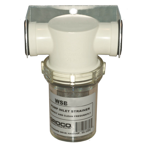 "GROCO 1"" Fresh Water Strainer w/Plastic Basket [WSB-1000-P]"