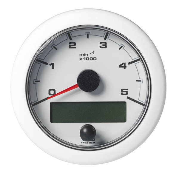 """VDO 3-3/8"""" (85mm) OceanLink NMEA 2000 Tach - 5000 RPM - White Dial  Bezel [A2C1065800001]"""