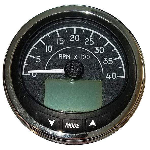 "Faria 4"" Tachometer (4000 RPM) J1939 Compatible w/o Pressure Port - Euro Black w/Stainless Steel Bezel [MGT059]"