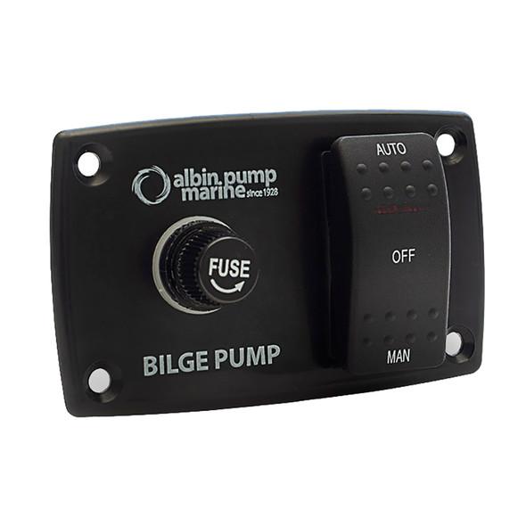 Albin Pump 3-Way Bilge Panel - 12/24V [01-66-027]
