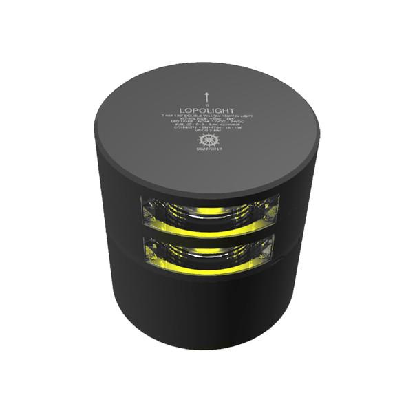 Lopolight Double Stern Towing Light - 2nm - Black Housing - Horizontal Mount [201-013ST-B]
