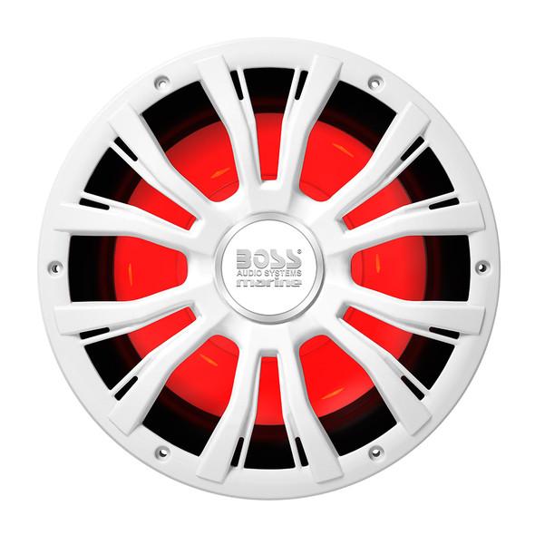 "Boss Audio MRG10W 10"" Marine 800W Subwoofer w/Multicolor Lighting - White [MRGB10W]"