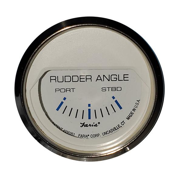 "Faria 2"" Rudder Angle Indicator - Chesapeake White w/Stainless Steel Bezel [13822]"