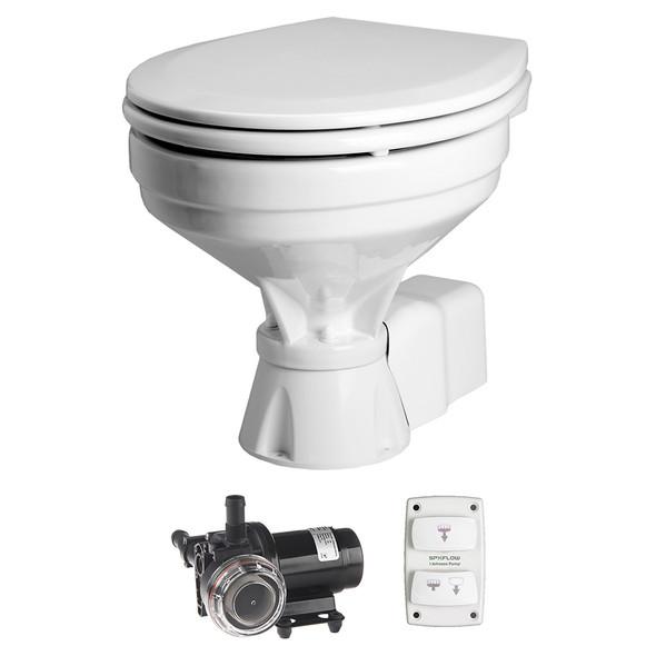 Johnson Pump AquaT Toilet Electric Comfort - 12V w\/Pump [80-47232-01]