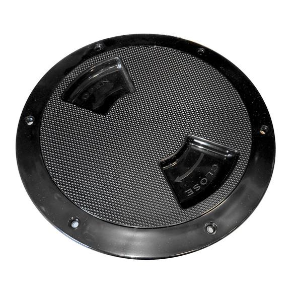 "Sea-Dog Textured Quarter Turn Deck Plate - Black - 5"" [336157-1]"