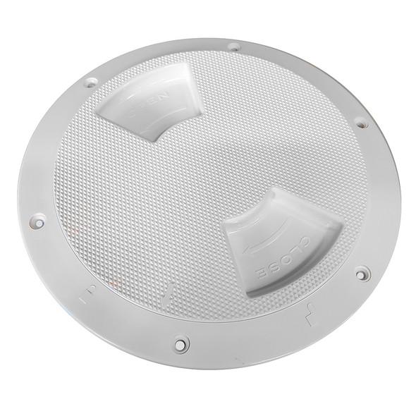 "Sea-Dog Textured Quarter Turn Deck Plate - White - 6"" [336162-1]"