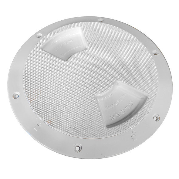 "Sea-Dog Textured Quarter Turn Deck Plate - White - 8"" [336182-1]"